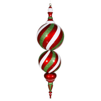 2.5 ft. Finial - Red, White, and Green