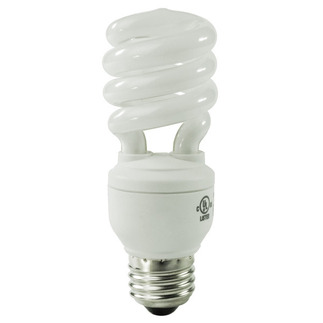 Screw In CFL 13 Watt - CFL - 60 W Equal - 3000K Halogen White - Min. Start Temp. 0 Deg. F - 82 CRI - 62 Lumens per Watt - 15 Month Warranty - Sylvania 29376