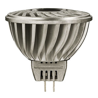 LED - 6 Watt - Dimmable - MR16 Narrow Flood - 12 Volt - GU5.3 Base - 1,420 Candle Power - Compares to 35 Watt Halogen - 3000 Kelvin - 27 Degree Beam Angle - 50,000 Life Hours - LEDnovation LEDMR163512WDINF