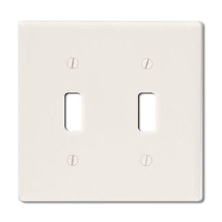 Leviton 78009 - Light Almond - 2 Gang - Toggle Type Wallplate