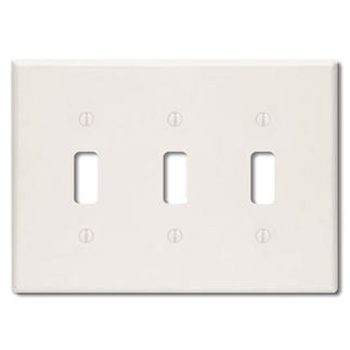 Leviton 78011 - Light Almond - 3 Gang - Toggle Type Wallplate