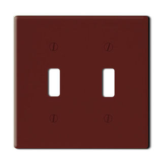 Leviton 85009 - Brown - 2 Gang - Toggle Type Wallplate