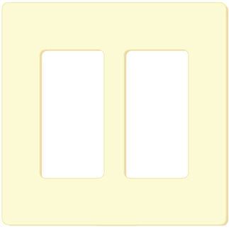 Leviton Decora 80301-SI - Ivory - 2 Gang - Decorator Wallplate - Screwless - Snap-On