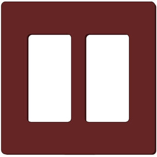 Leviton Decora 80309-S0 - Brown - 2 Gang - Decorator Wallplate - Screwless - Snap-On