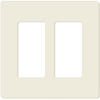 Leviton Decora 80309-SA - Almond - 2 Gang - Decorator Wallplate - Screwless - Snap-On