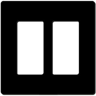 Leviton Decora 80309-SE - Black - 2 Gang - Decorator Wallplate - Screwless - Snap-On