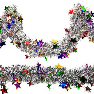 15 ft. - Star Tinsel Garland