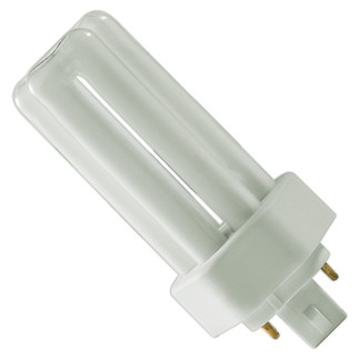Plug In CFL Sylvania 20878 - CF18DT/E/IN/841/ECO - 18 Watt - 4 Pin GX24q-2 Base - 4100K  - CFL Light Bulb