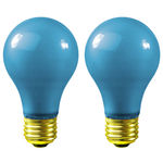 Sunlite 01145 - 60 Watt - Opaque Blue - A19 - 120 Volt - 1,250 Life Hours - Party Light Bulb - 2 Pack