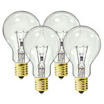 Hygrade 0273 - 40 Watt - A15 - Clear - Ceiling Fan Bulb - Intermediate Base - 2,000 Life Hours - 360 Lumens - 130 Volt - 4 Pack