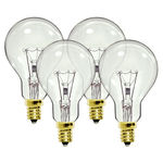 Hygrade 0271 - 40 Watt - A15 - Clear - Ceiling Fan Bulb - Candelabra Base - 2,000 Life Hours - 360 Lumens - 130 Volt - 4 Pack