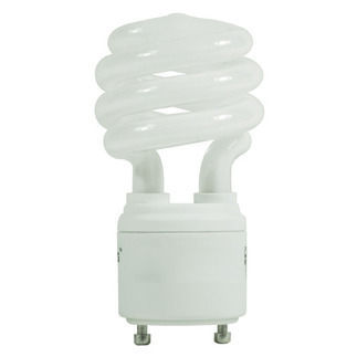 18 Watt - 75 W Equal - 2700K Warm White - CFL - GU24 Base