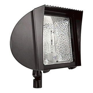 RAB FXH100QT - 100 Watt - Pulse Start - Metal Halide - Flood Light Fixture - 120/208/240/277 Volt