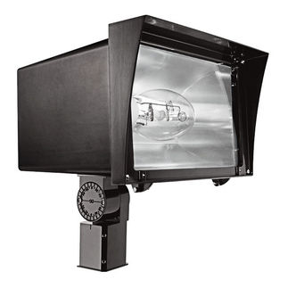 RAB FZH250SFPSQ - 250 Watt - Pulse Start - Metal Halide - Flood Light Fixture - 120/208/240/277 Volt