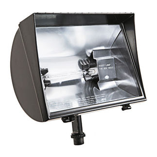 RAB QF500F - 500 Watt - Quartz Halogen Roundback Flood Light Fixture - 120 Volt
