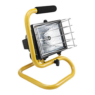 RAB QF500P - 500 Watt - Quartz Halogen Portable Work Light - 120 Volt