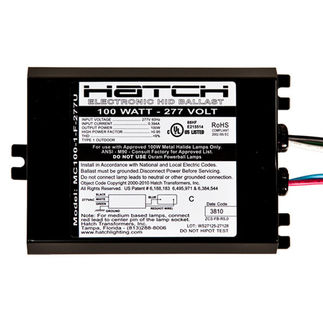 100 Watt - 277 Volt - Electronic Metal Halide Ballast - ANSI M90/M140 - Side Leads With Mounting Feet