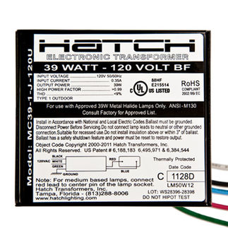 Hatch MC39-1-J-120U Metal Halide Ballast