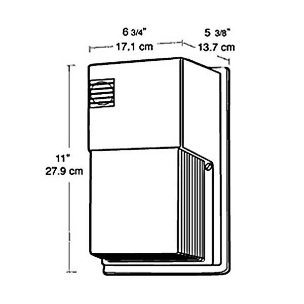 rab wpts50 50 watt high pressure sodium wall pack hps. Black Bedroom Furniture Sets. Home Design Ideas