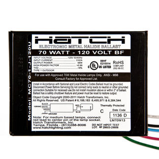 Hatch MCa70-1-J-120U Metal Halide Ballast