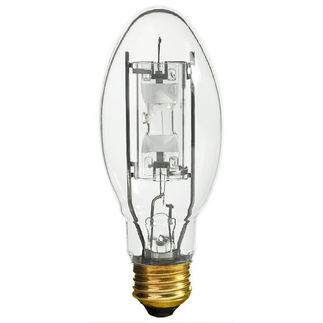 100 Watt - E17 - METALARC PRO-TECH - Pulse Start - Metal Halide - Protected Arc Tube - 3000K - Medium Base - ANSI M90/O - Universal Burn - MP100/U/MED - Sylvania 64417