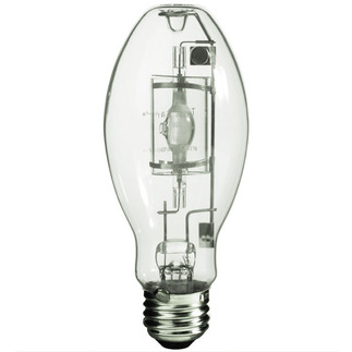 150 Watt - E17 - Pulse Start - Metal Halide - Protected Arc Tube - 3000K - Medium Base - ANSI M102/O - Universal Burn - MP150/U/MED - Sylvania 64402 ED17 Pulse Start Metal Halide