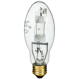 175 Watt - ED17 - Metal Halide - Unprotected Arc Tube - 4000K - Medium Base - ANSI M57/E - Universal Burn - Sylvania 64479 ED17 Metal Halide