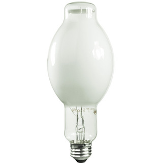 175 Watt - BT28 - Metal Halide - Unprotected Arc Tube - 3800K - Mogul Base - White Coated - ANSI M57/E - Universal Burn - M175/C/U - Sylvania 64472 BT28 Metal Halide