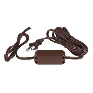 9.6 ft - Lamp Dimmer Cord - 200 Watt Max. - CFL/Incandescent - Full Range - SPT-2 - Brown - PLT D2881