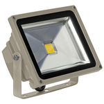 PLT - 30 Watt - LED - Waterproof Flood Light Fixture - Stark White - Operates at 100 to 240 Volts - 120 Degree Beam Angle - Light Grey Housing