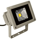PLT - 10 Watt - LED - Waterproof Flood Light Fixture - Warm White - Operates at 100 to 240 Volts - 120 Degree Beam Angle - Light Grey Housing
