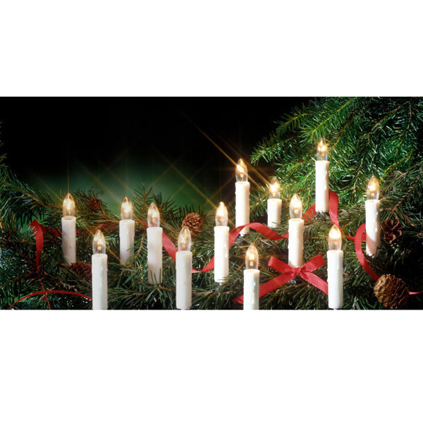 Led White Christmas Window Candle Steady Light