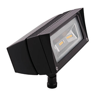 RAB FFLED18DC - 18 Watt - LED - Landscape Lighting - Flood Light Fixture - 12/24 VDC - Bronze Finish