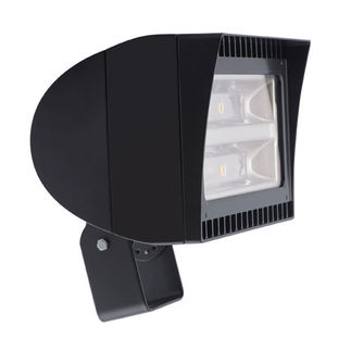 RAB FXLED78T - 78 Watt - LED - Landscape Lighting - Flood Light Fixture - 120/208/240/277 Volt - Bronze Finish