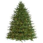 7.5 ft. Artificial Christmas Tree - Pre-Lit Belvedere Fir - Realistic PE/PVC Needles - Barcana