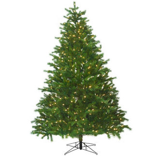 7.5 ft. Artificial Christmas Tree - Pre-Lit Conrad Fir - Realistic PE/PVC Needles - Barcana