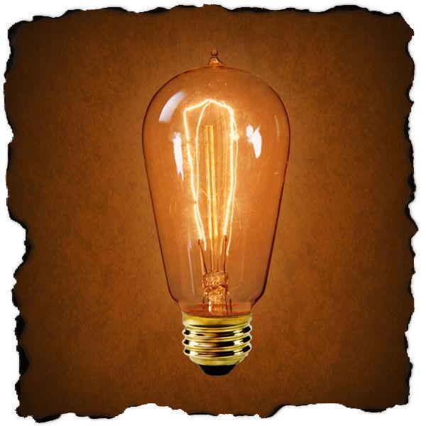 edison light bulb 1890 reproduction 40 watt. Black Bedroom Furniture Sets. Home Design Ideas