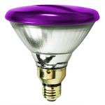 90 Watt - PAR38 - Purple - 130 Volt - 2,500 Life Hours - Halogen Light Bulb - Sylvania 14577-7