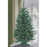 4 ft. Artificial Christmas Tree - Pre-Lit Green Mountain Fir - Classic PVC Needles - Barcana
