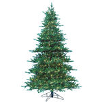 7.5 ft. Artificial Christmas Tree - Pre-Lit Jaxson Fir - Realistic PE/PVC Needles - Barcana