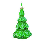 Glitter Alpine Tree Christmas Ornament - Shatterproof - 5.5 in. - Green