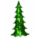 Illuminated - Christmas Alpine Tree Decoration - 29 in. - Green - Fiberglass - Barcana 57-1025-29