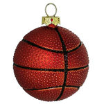 Basketball Christmas Ornament - Shatterproof - 2 in. - Orange - 6 Pack