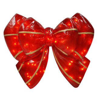 Illuminated - Christmas Bow - 29.5 in. - Barcana 57-1080