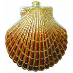 Large Clam Shell Christmas Ornament - Shatterproof - 4.5 in. - Copper