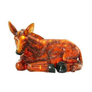 Illuminated - Christmas Nativity Donkey - 13 in. - Barcana 57-1083-D