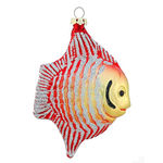 Fish Christmas Ornament - Shatterproof - 4.5 in. - Red and Gold - 4 Pack