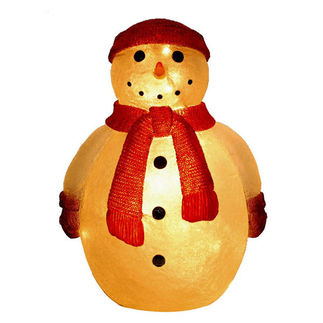 Illuminated - Christmas Snowman Decoration - 28 in.