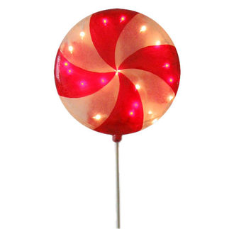 Illuminated - Christmas Lollipop Decoration - 43.5 in. - Red and White
