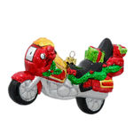 Motorcycle Christmas Ornament - Shatterproof - 5 in. - Red - 2 Pack